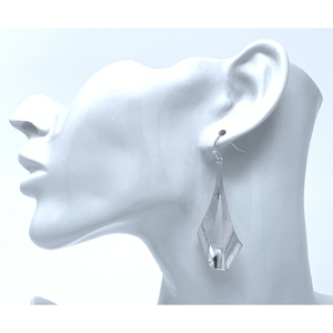 Silver Trendy Teardrop Dangle Earrings For Women - Fashion Jewelry