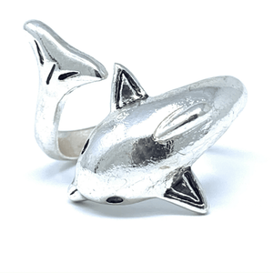 Silver Wrap Dolphin Ring - Animal Jewelry