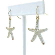Starfish White Gold Dangle Beach Earrings - Fashion Jewelry