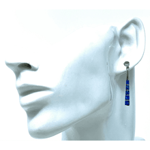 Sterling Silver Blue Opal Earrings - SeaSpray Jewelry