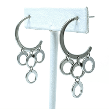 Sterling Silver Crescent Circle Stud Earrings - SeaSpray Jewelry