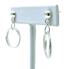 Sterling Silver Dancing Link Hoop Earrings - SeaSpray Jewelry