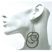 Sterling Silver Dangle Circle Earrings - SeaSpray Jewelry