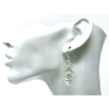 Sterling Silver Dangle Curled Spiral Earrings - SeaSpray Jewelry