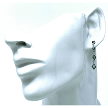 Sterling Silver Dangle Larimar Earrings - SeaSpray Jewelry