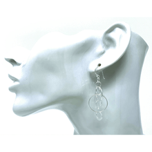Sterling Silver Interlocking Open Circle Earrings - SeaSpray Jewelry