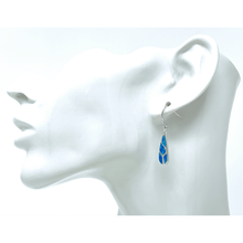 Sterling Silver Mosaic Blue Opal Teardrop Earrings - SeaSpray Jewelry