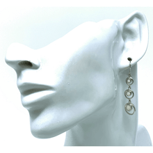 Sterling Silver Open Circle White Opal Earrings - SeaSpray Jewelry