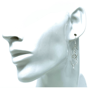 Sterling Silver Spiral Twist Dangle Earrings - SeaSpray Jewelry