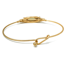 Natural Stone Gold Stacking Bangle Bracelet For Women - Costume Jewelry