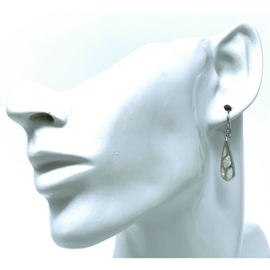 Teardrop Mosaic White Opal Earrings - SeaSpray Jewelry