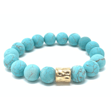 Turquoise Beaded Stretch Bracelet For Women - Fashion Jewelry