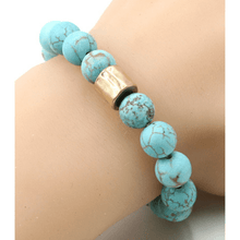 Turquoise Beaded Stretch Bracelet For Women - Costume Jewelry