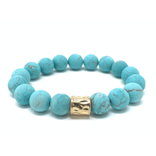 Turquoise Bead Stretch Bracelet For Women - Fashion Jewelry