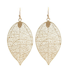 Gold Leaf Dangle Nature Fashion Earrings For Women - Fashion Jewelry