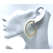 White Acetate Resin Stud Earrings With Gold Trim