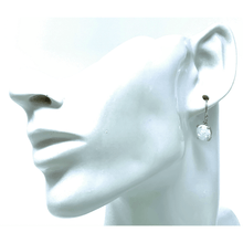 White Opal Sterling Silver Round Earrings - SeaSpray Jewelry