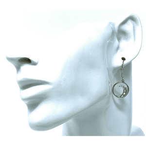 White Opal Wave With CZ Sterling Silver Earrings - SeaSpray Jewelry