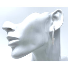 White Resin Circle Hoop Women's Earrings