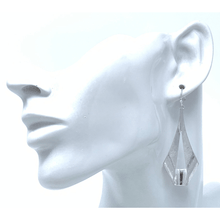 Worn Silver Modern Teardrop Dangle Earrings For Women - Fashion Jewelry