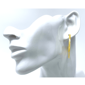 Yellow Resin Circle Hoop Earrings - Statement Jewelry