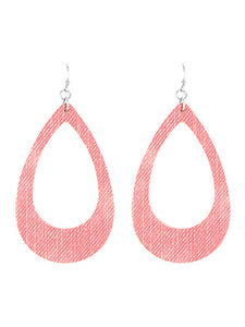 Pink Open Cut Teardrop Dangle Earrings - Fashion Jewelry Earrings For Women