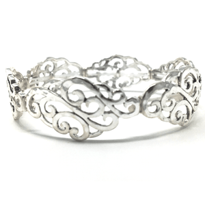Antique Silver Filigree Stretch Bracelet - Fashion Accessories