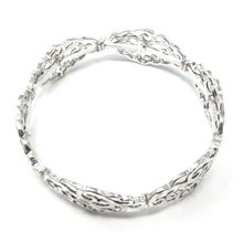 Antique Silver Filigree Stretch Bracelet - Fashion Jewelry
