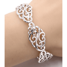 Antique Silver Filigree Stretch Bracelet - Womens Bracelets