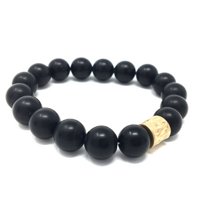 Black Onyx Beaded Stretch Boho Bracelet For Women - Fashion Jewelry