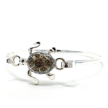 Silver Sea Turtle Bangle Bracelet - Ocean Bracelet
