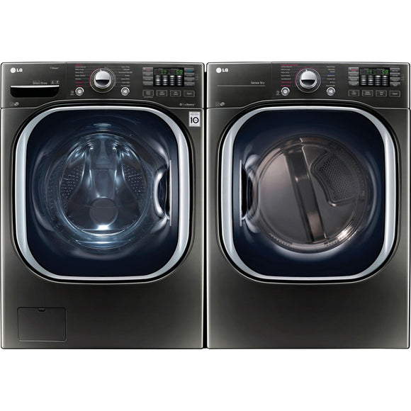 LG Front Load Pair - Black Stainless