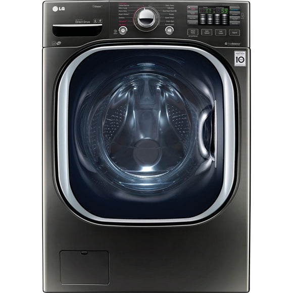 LG Front Load Washer (WM4370HKA) - Black Stainless
