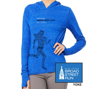 'Women's Runner' Unisex Tri-Blend Lightweight Hoody - Vintage Royal