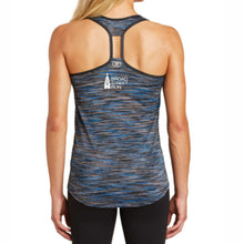 'Collegiate' Women's Tech Racerback Space-Dye Tank - Electric Blue / Space Dye