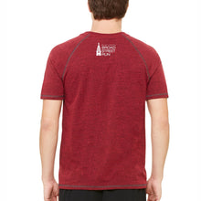 'Subway Stop' Men's Tri-Blend SS Tee - Heather Red