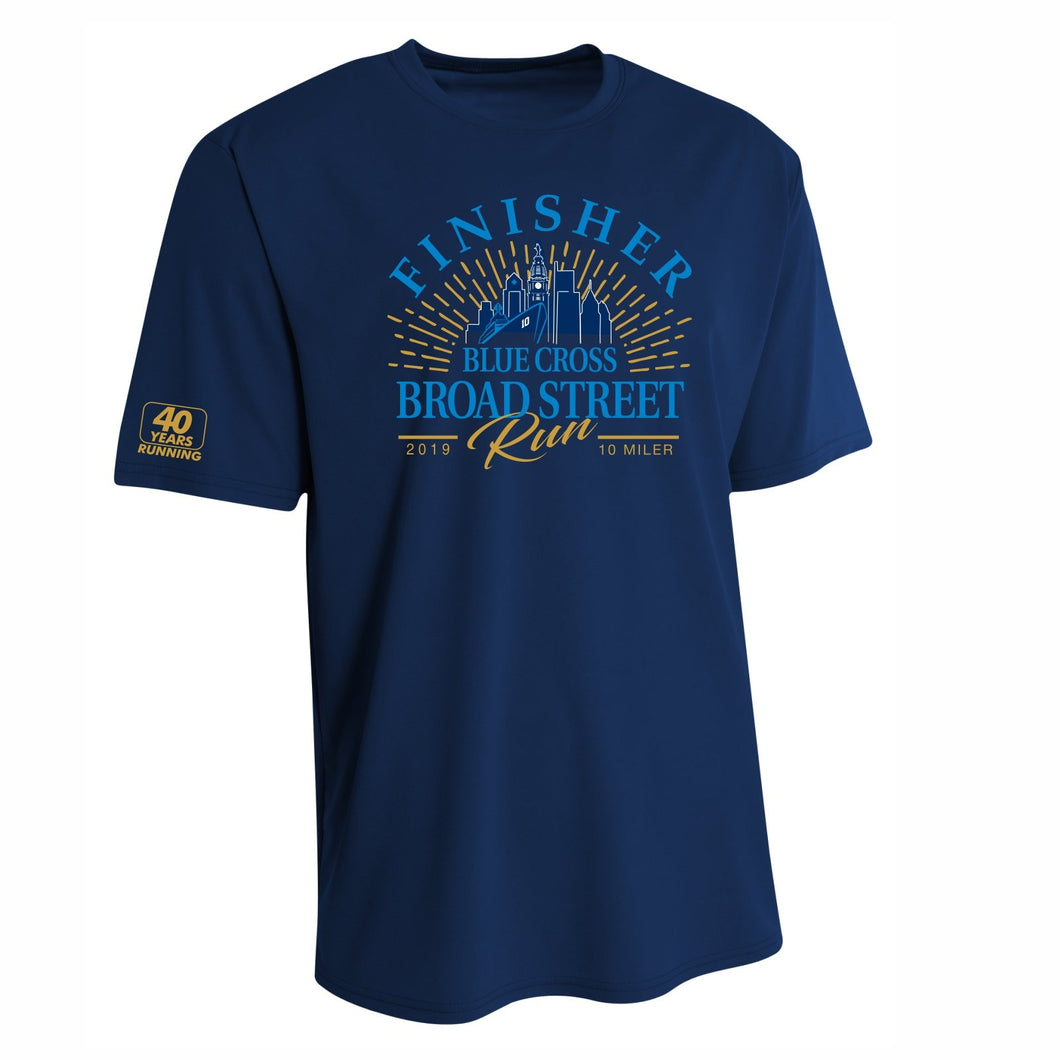 '2019 Finisher' Men's Tech SS Tee - Navy