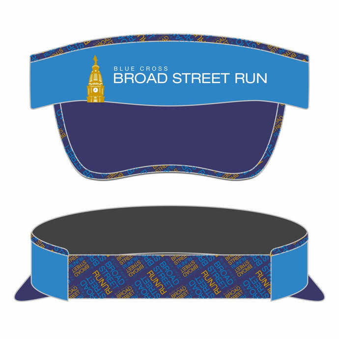 Event Logo Tech Visor - Elastic Band Blue / Navy Bill - by Boco