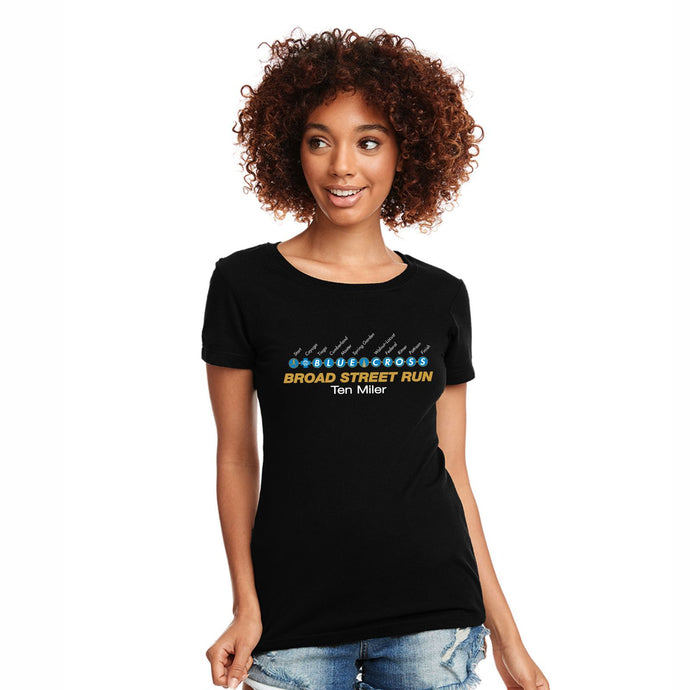 'Subway Stop' Women's CVC SS Tee - Black