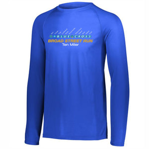 'Subway Stop' Men's Tech LS Tee - Royal