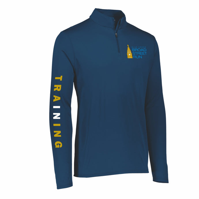 Men's Tech 1/4 Zip -Navy 'In Training 2020 Design' - Blue Cross Broad Street Run