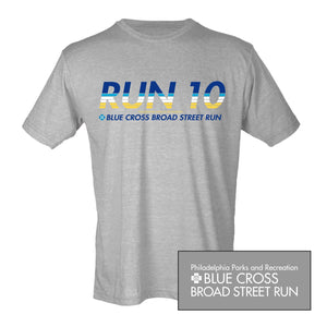 'Run10' Men's SS Lifestyle Tee - Heather Grey - by Tultex