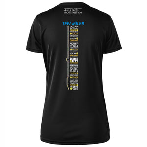 '2018 Directions' Women's SS Tech Tee - Black - by Zorrel