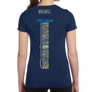 '2018 Directions' Women's SS Tri-Blend Tech Tee - Navy - by All Sport