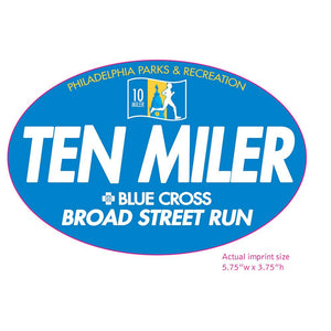 "'Ten Miler' Oval 3.75"" x 5.75"" Magnet - Blue"
