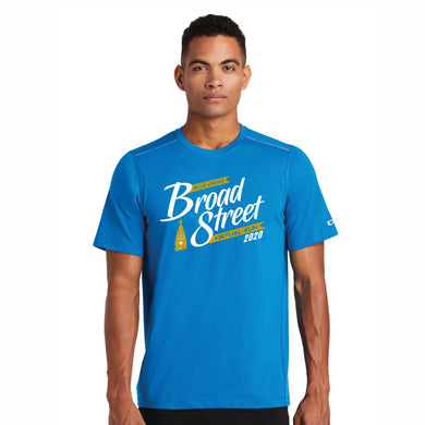 Virtual Run 'Banner' Men's Tech SS Tee - Bolt Blue