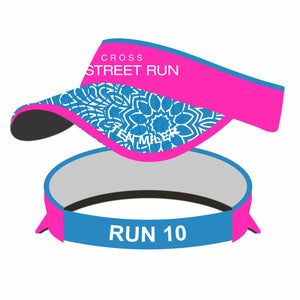 'Broad Street' Tech 'Supervisor' Visor - Hot Pink / Floral Brim