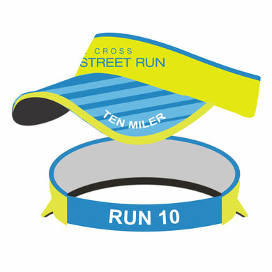 'Broad Street' Tech 'Supervisor' Visor - Hi Viz Yellow / Blue Bill