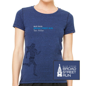 'Women's Runner' Women's Tri-Blend SS Tee - Navy Heather