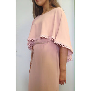 Blush Cape Dress